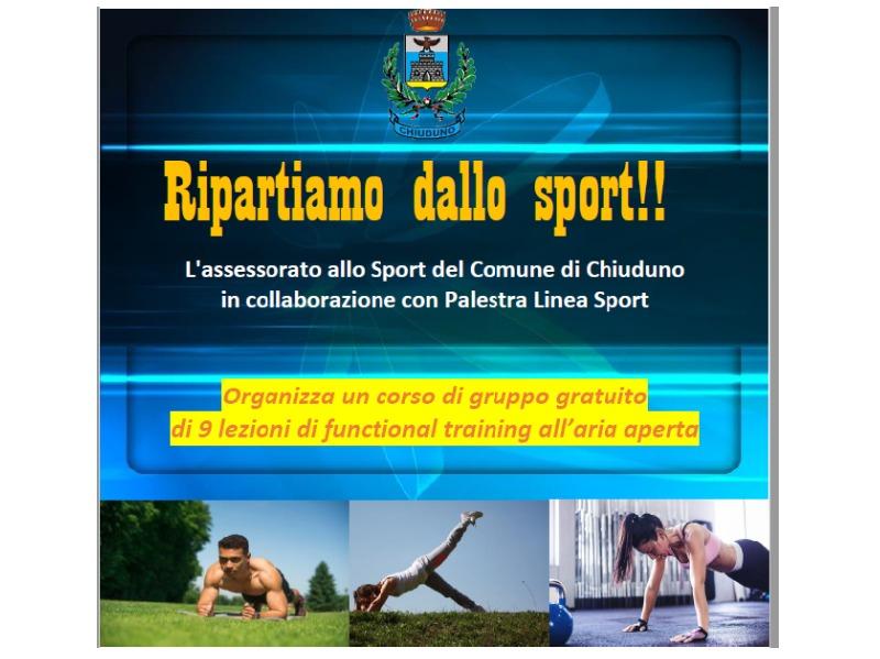 Ripartiamo dallo sport!